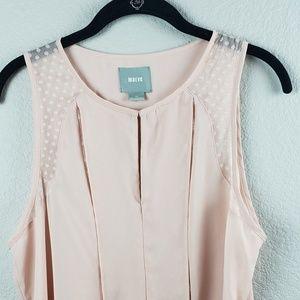 Maeve   Pleaded Front Sleeveless Blouse Size 10